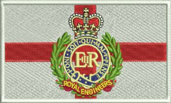 St George RE Embroidered Badge